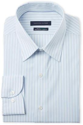 Tommy Hilfiger Bluebird Regular Fit Stretch Long Sleeve Dress Shirt