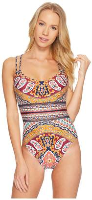 Nanette Lepore Super Fly Paisley Goddess One-Piece Women's Swimsuits One Piece