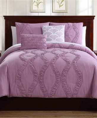Ellison First Asia Megan 5-Pc. Queen Comforter Set Bedding