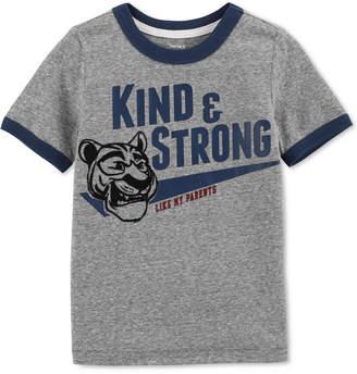 Carter's Toddler Boys Strong-Print Ringer T-Shirt