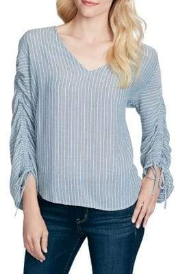 Jessica Simpson Miller V-Neck Gathered-Sleeve Top