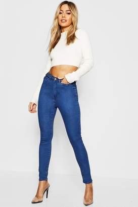 boohoo Petite Waist Detail Skinny Jean