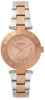 Versace New Logo Stainless Steel Bracelet Watch
