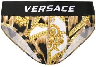 Versace leopard print briefs