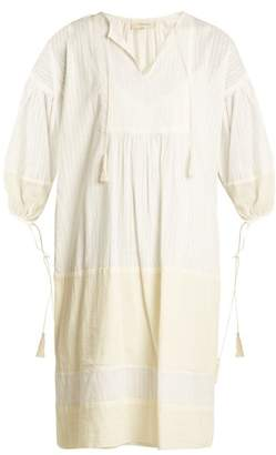 The Great - The Panel Tunic Tassel Trimmed Dress - Womens - Ivory