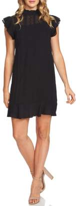 CeCe Yuru Stripe Ruffled Shift Dress