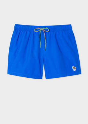 Paul Smith Men's Blue Zebra Logo Swim Shorts