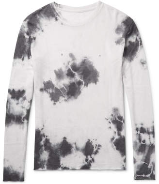 Tie-Dyed Cashmere and Silk-Blend T-Shirt $650 thestylecure.com