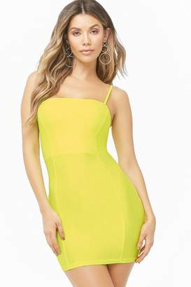 Forever 21 Neon Lace-Up Mini Bodycon Dress