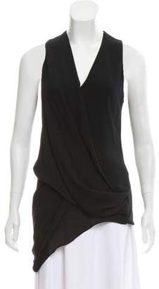 Helmut Lang Structured sleeveless top
