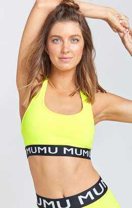 Show Me Your Mumu Maya Logo Bra ~ Neon Yellow