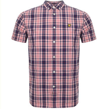 Lyle & Scott Short Sleeved Checked Shirt Pink