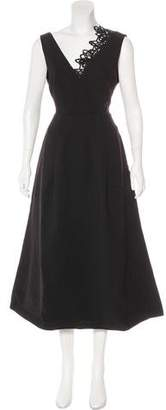 Self-Portrait Ebony Lace Trim Maxi Dress