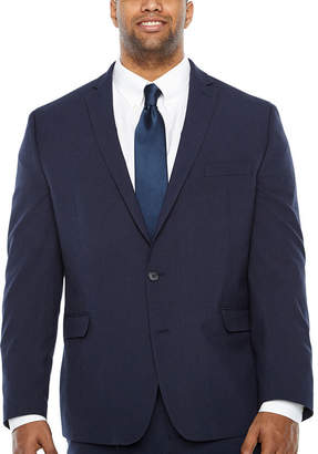 Van Heusen Grid Slim Fit Stretch Suit Jacket-Big and Tall