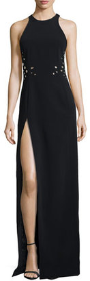 Thierry Mugler Sleeveless Grommet Gown with Slit $4,380 thestylecure.com