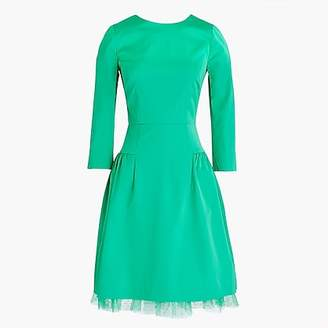 J.Crew Long-sleeve sheath dress with tulle hem