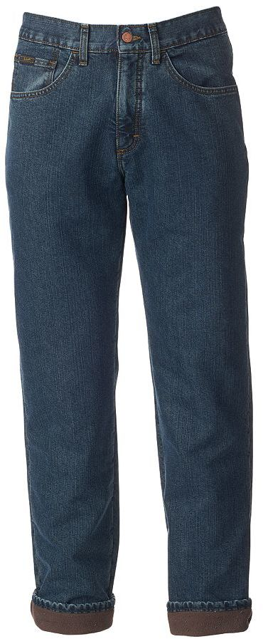 LeeMen's Lee Premium Select Fleece-Lined Relaxed Straight-Leg Jeans