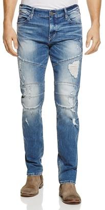 True Religion Geno Moto Straight Fit Jeans in Worn Rebellion $279 thestylecure.com