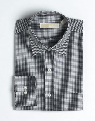 MICHAEL Michael Kors Regular-Fit Checked Cotton Dress Shirt