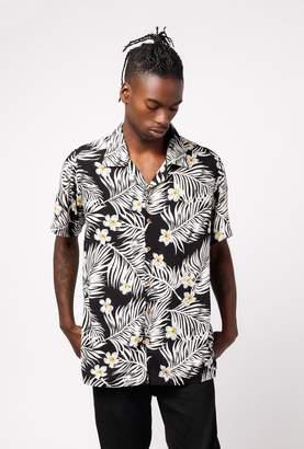 Raga Man SS Point Collar Floral Hawaiian Button Down
