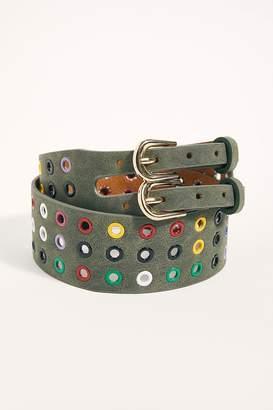 Binetti Love Rainbow Grommet Belt