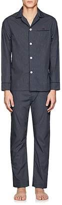 Maison Marcy Men's Dot-Print Cotton Pajama Set