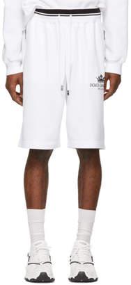 Dolce & Gabbana White Crown Basketball Shorts