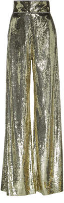 Dundas Sequined Tulle Wide-Leg Pants Size: 44