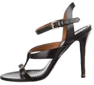 Burberry Leather Ankle Strap Sandals
