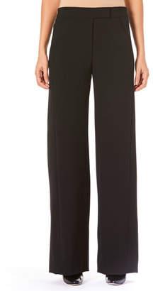 Carolina Herrera Wide-Leg Wool Tuxedo Pants