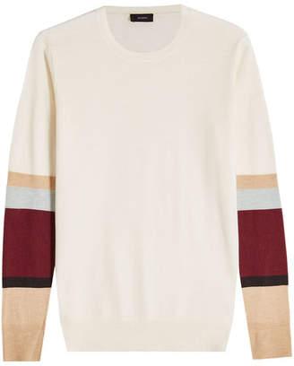 Joseph Color Block Cashmere Pullover