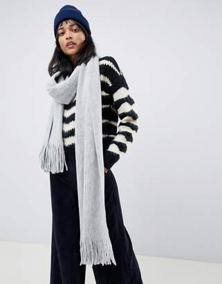 Asos Design DESIGN long tassel scarf in supersoft knit