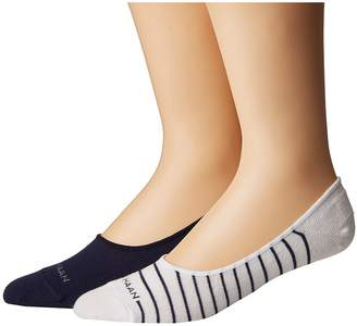 Cole Haan 2-Pair Fine Stripe No Show Men's No Show Socks Shoes