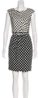 Oscar de la Renta Tweed Silk Dress Black Tweed Silk Dress