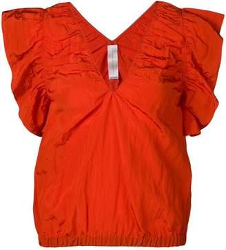 Victoria Beckham Victoria ruffle sleeve blouse