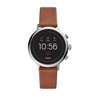 Fossil Women's Gen 4 Venture HR Stainless Steel and Leather Touchscreen Smartwatch