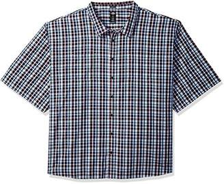 Dickies Men's Big and Tall Yarn Dyed Plaid Short Sleeve Shirt