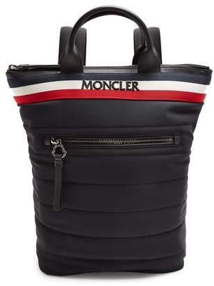 Moncler Cerro Logo Embroidered Quilted Backpack - Mens - Black Multi
