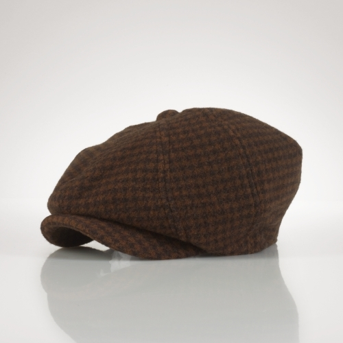 Ralph Lauren Houndstooth Newsboy Hat