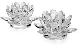 Godinger Lotus Candle Holder- Set of 2
