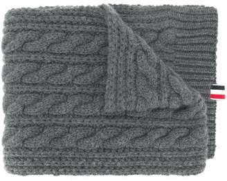 b5cfbbb17b8 Grey Cable Knit Scarf Men - ShopStyle UK