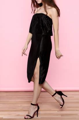 Everly Black Strapless Midi Dress $49 thestylecure.com
