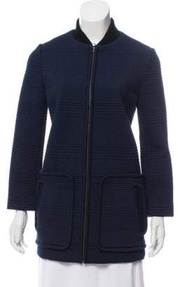 Tory Burch Textured Longline Jacket