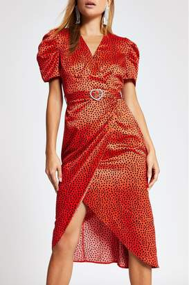 River Island Womens Red Midi Dress - Red