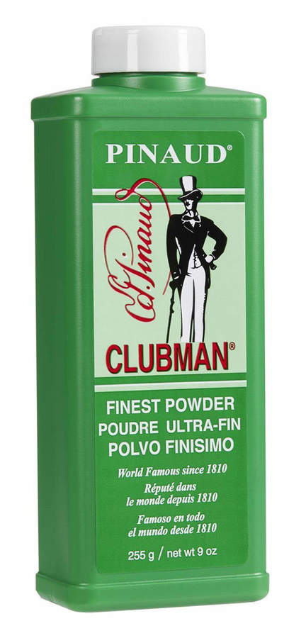 Pinaud Clubman Talc White (Large) by 9oz Powder)