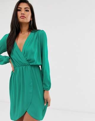 Love long sleeve wrap dress