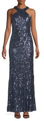 Morgan & Co. Sequin Embellished Gown