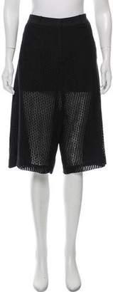 Hache High-Rise Lace Shorts