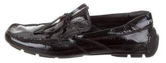 Prada Sport Patent Leather Boat Shoes