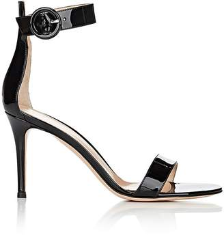 Gianvito Rossi Women's Portofino Patent Leather Ankle-Strap Sandals